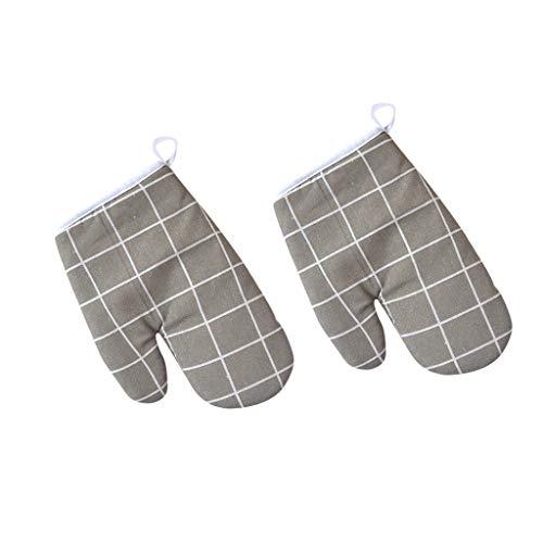 Serria® Hitzebeständig Ofenhandschuhe, Haushalt Bäckerei Hitzebeständigkeit Mikrowelle Backofen Handschuhe grau