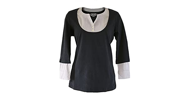 Navy 2in1 Striped Shirt Scoop Neck Jersey Tunic RRP £22
