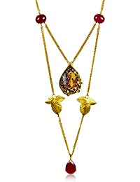 Miranika Gold Plated Multi Strand Necklace for Women (Multi-Colour)(C1D19RSA2)
