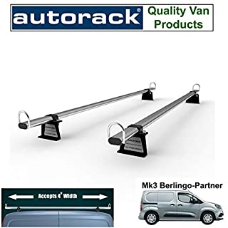 Autorack Products Van Roof Rack 2 Bars for New CITROEN BERLINGO Van Mk3 (2018-onward) Ladder Bars