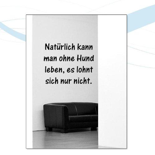INDIGOS UG Wandtattoo W041Spruch Natürlich, mit Spruch 40 x 32 cm Schwarz -