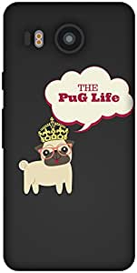 The Racoon Grip printed designer hard back mobile phone case cover for LG Nexus 5X. (PUG Life)