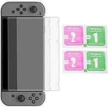 Wemk Nintendo Switch Protector de Pantalla HD (2 Piezas) que protege contra los rasguños y los choques