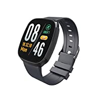 YAOJIA Fitness Tracker,Heart Rate Monitor Tracker Blood Pressure Blood Oxygen Monitor Bluetooth Pedometer with Sleep Monitor Smartwatch for Kids Women Men Call SMS Push for Android iOS