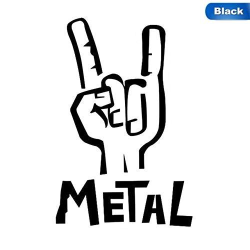tonywu Heavy Metal Aufkleber Vinyl Aufkleber E-bass Gitarre Rock Persönlichkeit Auto Aufkleber Zubehör Bk -