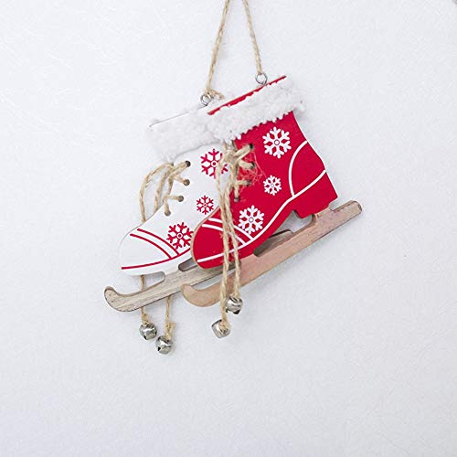 Red Christmas Bemalte Dekorative Anhänger Weihnachtsbaum Kreative Skates hängende Weihnachtshauptdekorationen Großhandel
