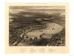 New Orleans, Louisiane-Affiche Panoramique Carte Lanterne Par pression, 18 x 24