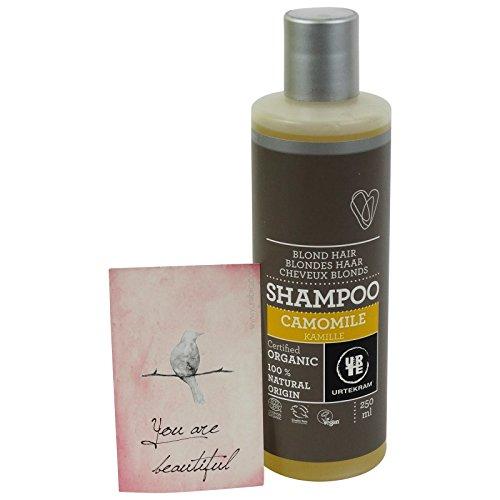 URTEKRAM - Shampoo ala Camomilla per Capelli Chiari e Biondi - BIOLOGICO e VEGAN