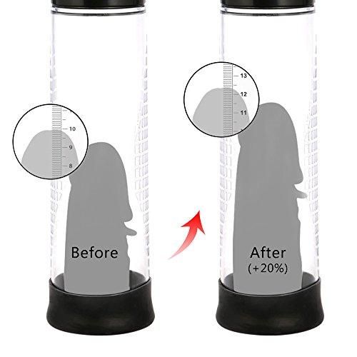 YHJ Penispumpen Vakuumpumpe mit Barometer, Erektion und Verlängern Penis für Potenz-Training Sextraining & Potenzsteigerung mit extra Mini Vibrations-Ei - 4