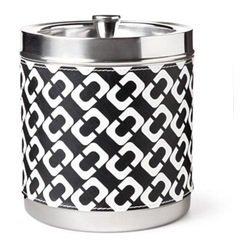 diane-von-furstenberg-black-and-white-chain-link-stainless-steel-ice-bucket-by-diane-von-furstenberg