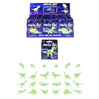 HENBRANDT 24x Glow In Dark Wall Stickers Jurassic Dino Dinosaurs Boys Kids Bedroom Ceiling Art