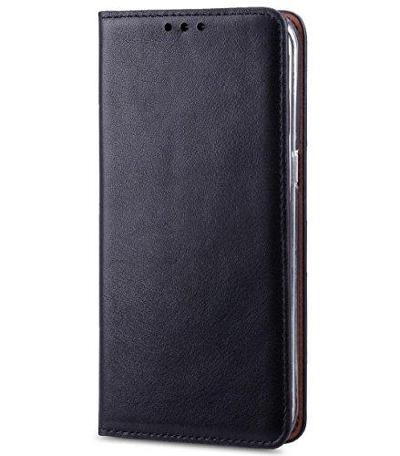 Apple Iphone 7 Melkco Cuir de vachette Premium Herman Series Housse de style livre avec cuir de qualité supérieure Fabriqué à la main Bonne protection, Premium Feel-Orange Brown Italian Black/Italian Blue