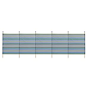WBL Unisex's 6 Pole Extra Tall Stripes Windbreak-Green, 150x371cm
