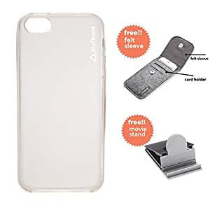 Stuffcool Lisse Soft Back Case Cover for Apple iPhone 5 / 5S / SE - Tinted White (LSIP5S-TWHT)