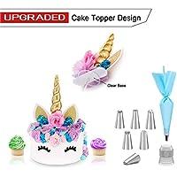 Unicornio de la torta del oro 3D para la boda del cumpleaños + Kit de Herramientas