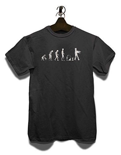 Evolution Zombie Vintage T-Shirt Grau