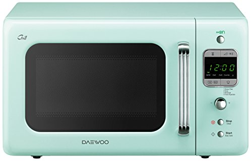 Daewoo KOG-6LBM Forno a Microonde 20 Lt Vintage Style Con Grill, Menta