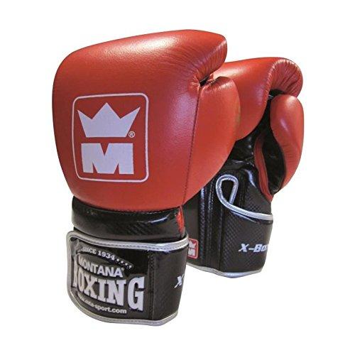 Montana X-Boxing Gants de Boxe 8 oz Mixte Adulte, Rouge