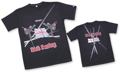 M.A.R International Ltd T-Shirt Kickboxen/Shirt MMA Top Thai Boxing Outfit Muay Thai Kleidung Boxen Gear schwarz Medium schwarz - schwarz