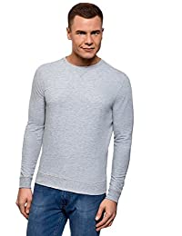 oodji Ultra Homme Sweat-Shirt Basique en Coton