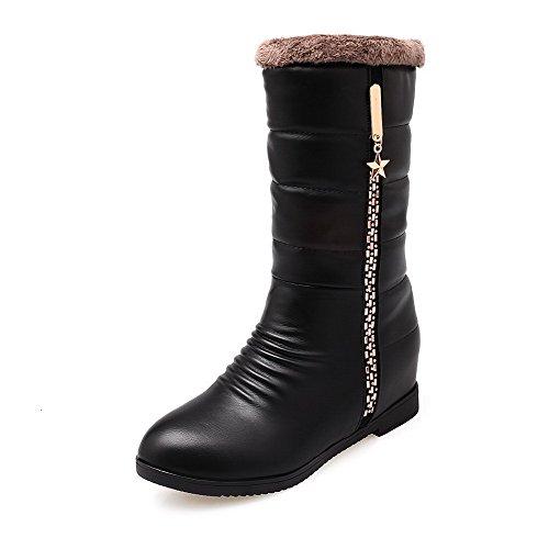 allhqfashion-womens-kitten-heels-soft-material-low-top-solid-zipper-boots-black-37