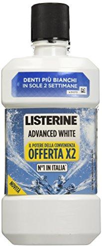 Listerine - Collutorio Advanced white, 2 pezzi (500 ml x 2)