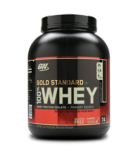 Optimum Nutrition Whey Protein 100% Gold Standard - 5 lbs, Double Rich Chocolate