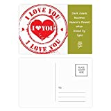 DIYthinker Stempel Valentinstag Rot Liebe You Poetry C Postkartenset dankt Karte Mailing Side 20pcs 5.7 Zoll x 3.8 Zoll Mehrfarbig