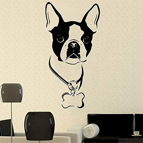 yiyiyaya Wandaufkleber Für Kinderzimmer Neymar Art Decor Hund Abziehbilder PVC Abnehmbare Selbstklebende Design Vinyl Wandaufkleber Home grau 58 x 30 cm (Hamster-ordner)