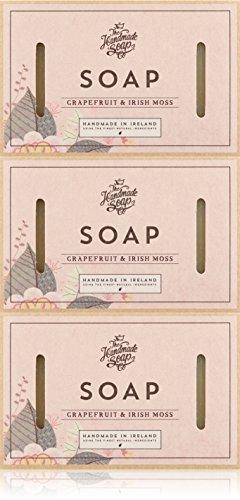 El hecho a mano jabón Company 3piezas pomelo y musgo irlandés jabón