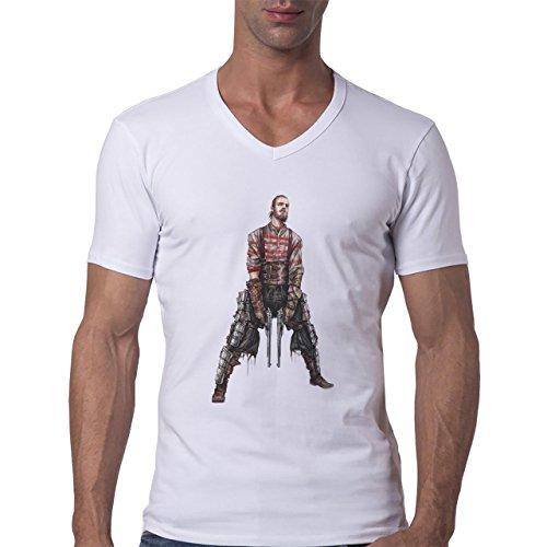 Fine Art Army Of 200 BC Herren V-Neck T-Shirt Weiß