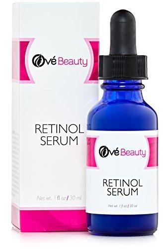 Retinol Serum 2.5% hochdosiert Mit Hyaluronsäure Serum & Vitamin E - Beste Anti-aging Serum für feine Linien und Fältchen (Zwei Alte Krähen)