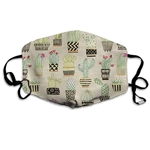 Lovely Llamas Cactus Hoedown Tan Unisex Anti-dust Solid Cotton Earloop Face Mouth Mask Muffle