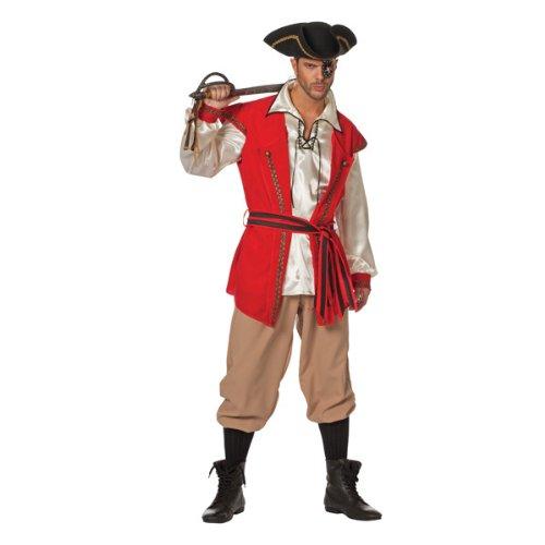 Herren-Kostüm Pirat Red Beard 3tlg. Gr. 64 (Red Beard Piraten Kostüm)