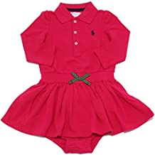 Ralph Lauren 7429W Vestito Bimba Girl Fuchsia Cotton Dress + Slip Girl