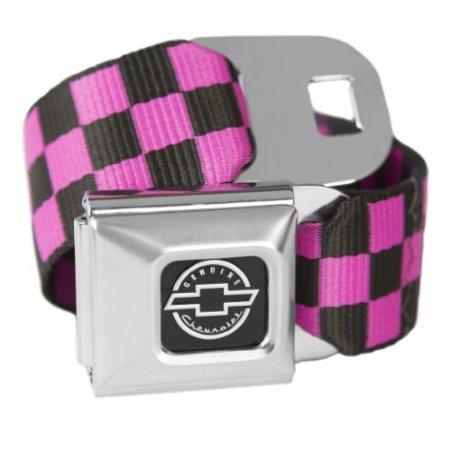a-scacchi-rosa-chevrolet-cintura-con-fibbia-cintura-alla-moda-licenza-ufficiale