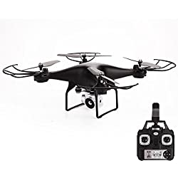 Haihiuc FPV Drone con cámara en 5MP 1080P HD WiFi Video en Vivo Altitude Hold One Key Return 2.4GHz RC 6 Axis Gyro RTF Quadcopter para niños y Adultos (Negro)