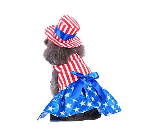 Meiqipetbaby® Weihnachts-Kostüm für kleine Hunde und Welpen, lustiges Haustier-Kostüm, Halloween-Kostüm, Americangirl S (Halloween-kostüm Uk Lustig)
