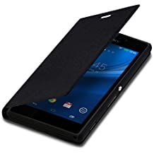 kwmobile Funda para Sony Xperia M2 - Flip cover para móvil - Cover plegable en negro