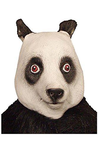 Unbekannt Aptafêtes–MA1028Full Latex Maske für Erwachsene Panda–One Size