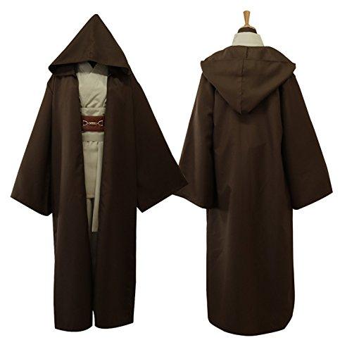 Wan Erwachsene Kostüm Obi Für - Lackingone Star Wars Kostüme Obi Wan Kenobi Kostüm Jedi Kostüme für Erwachsene Herren (XL)