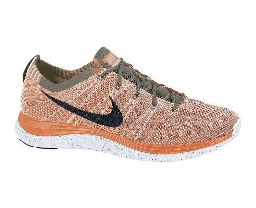 1216O sneaker NIKE FLYKNIT ONE arancione scarpe donna shoes women Arancione