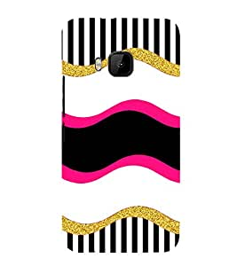 PrintVisa Designer Back Case Cover for HTC One M9 :: HTC One M9S :: HTC M9 (Sparkling Bright Striped Pattern)