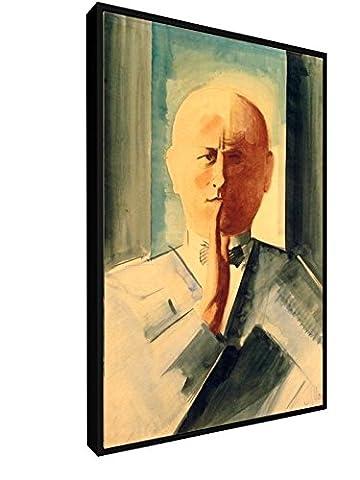 Oskar Schlemmer - Selbstbildnis 1931-32 - 40x60 cm - Leinwandbild mit Schattenfugenrahmen - Wand-Bild - Kunst, Gemälde, Foto auf Leinwand mit Rahmen - Alte Meister / Museum