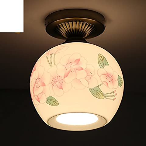 Ceramic ceiling/Restaurant lights/balcony/Bar counter/Aisle lights/Porch lights/Single-head hand-painted Chinese style garden lamps