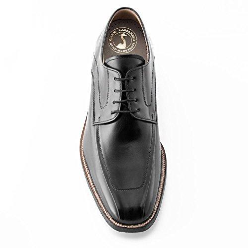 Masaltos - Chaussures rehaussantes pour homme. Jusqu'à 7 cm plus grand! Modèle Bardolino Noir