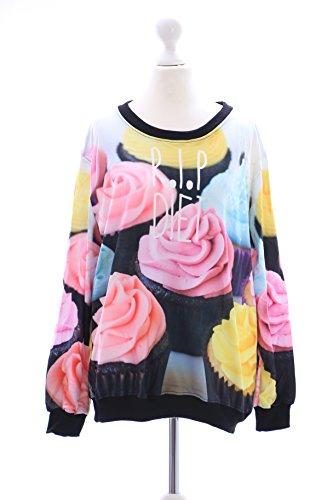 TY-Y033 Rosen Cupcakes Gothic Vintage Sweatshirt Pullover Japan Harajuku Trend Kawaii-Story