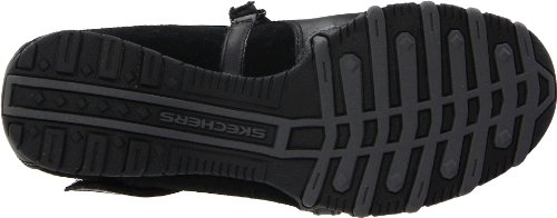 Skechers Women's Bikers-Step-Up Mary Jane Slip-On Flat, Black, 6 M US Black