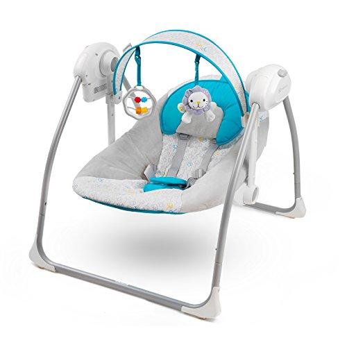 Kinderkraft NANI UP Babywippe Schaukelsitz Babyschaukel Wippe Schaukel Babysitz (Blau)