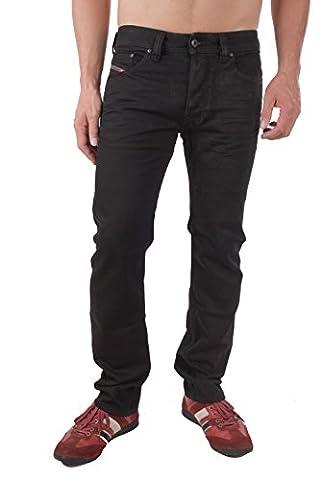 Diesel Safado 0R4H6_Stretch Herren Jeans Hose Regular Slim (W33/L30, Schwarz)